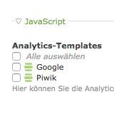 Google-Analytics Aktivierung in Contao 3